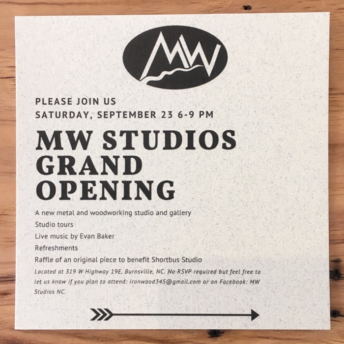 MW Studios grand opening flyer
