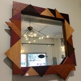 MW Studios Joyce Hones Burnsville NC mirror wood frame lacewood maple cherry purpleheart peruvian walnut