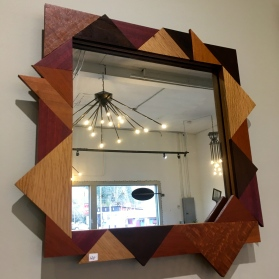 MW Studios Joyce Hones Burnsville NC mirror wood frame lacewood maple cherry purpleheart peruvian walnut
