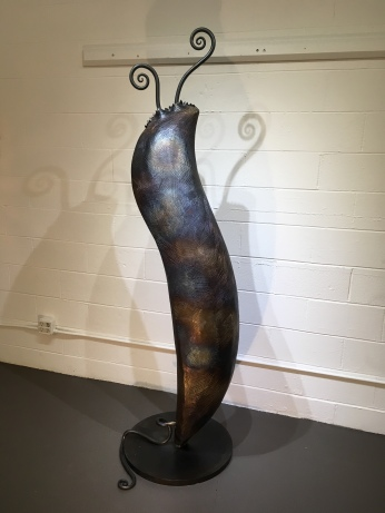MW Studios Mark Woodham Burnsville NC metal sculpture welded steel Pod left