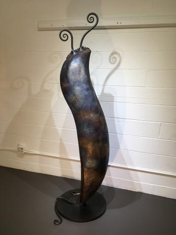 MW Studios Mark Woodham Burnsville NC metal sculpture welded steel Pod left