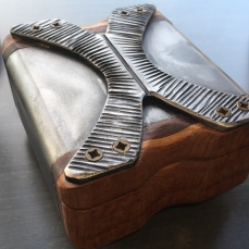MW Studios Mark Woodham Burnsville NC metalworker woodworker small box metal X 2