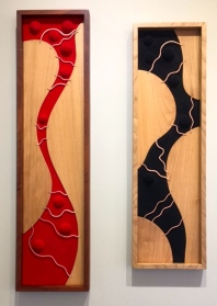MW Studios Mark Woodham Burnsville NC wall hangings abstract mahogany hickory cherry copper