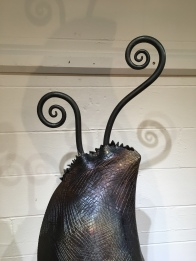 MW Studios Mark Woodham Burnsville NC metal sculpture welded steel Pod detail 1
